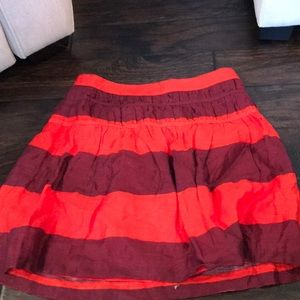 Coral and Violet Striped Skirt